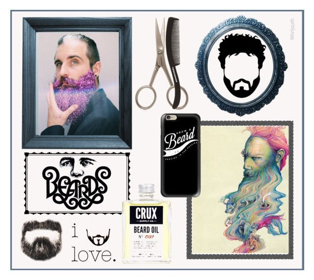 Beards! by whirlypath on Polyvore featuring Tweezerman, Casetify, Dot & Bo, men's fashion and menswear