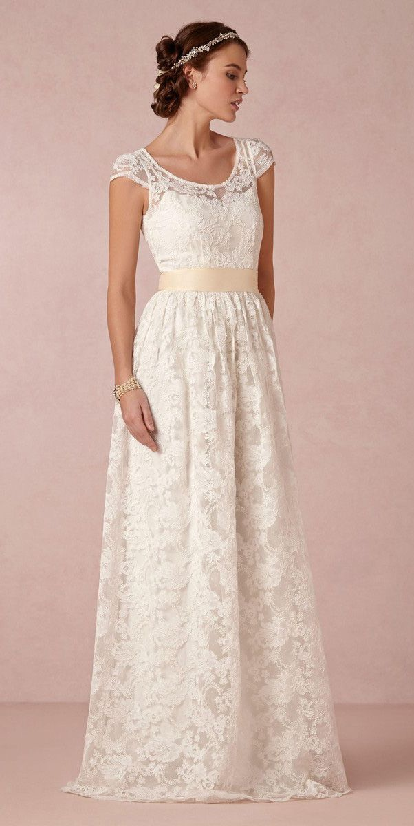 BHLDN Ellie Lace Gown
