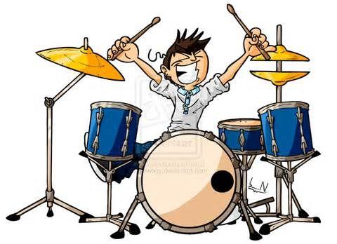 Cartoon Drums Cartoon Drummer Entertainment Drums Cartoon Drums