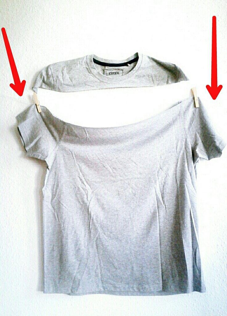 Kleid aus 2 Shirts