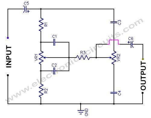 tone and volume control circuit diagrams