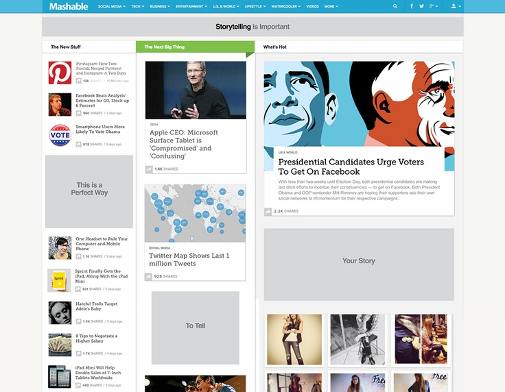 Welcome to the new Mashable. After two weeks of beta testing, we're excited to launch an all-new version of the site that delivers a better experience on every device -- from ph...