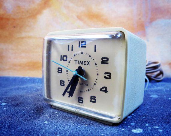 Working Timex Alarm Clock by HiddenRiverCo on Etsy