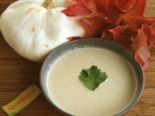 muscade, poivre, lait concentré non sucré, cube de bouillon, eau, pâtisson, persil, sel, basilic