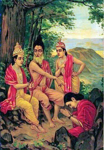 redemption of ahalya by raja ravi varma