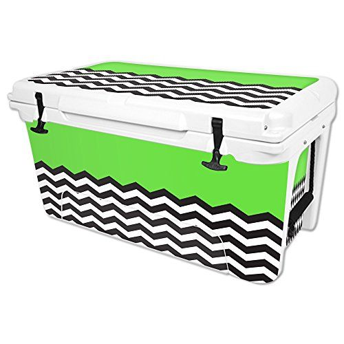 MightySkins Protective Vinyl Skin Decal for RTIC 65 qt Cooler wrap cover sticker skins Lime Chevron ** To view further for this item, visit the image link.(This is an Amazon affiliate link and I receive a commission for the sales)