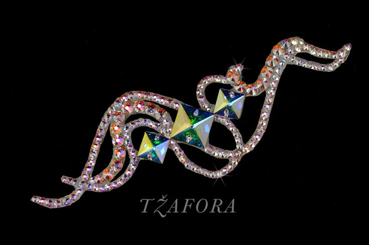 Ballroom accessories and ballroom jewelry made with Swarovski, available at www.tzafora.com © 2015 Tzafora. Handmade in Canada.