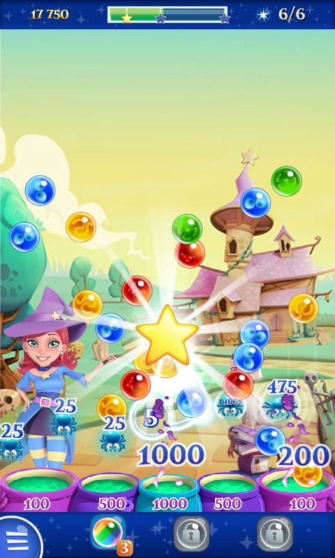 Bubble Witch 2 by King - Actionphase Win Bonus Round - Match 3 Game - iOS Game - Android Game - UI - Game Interface - Game HUD - Game Art
