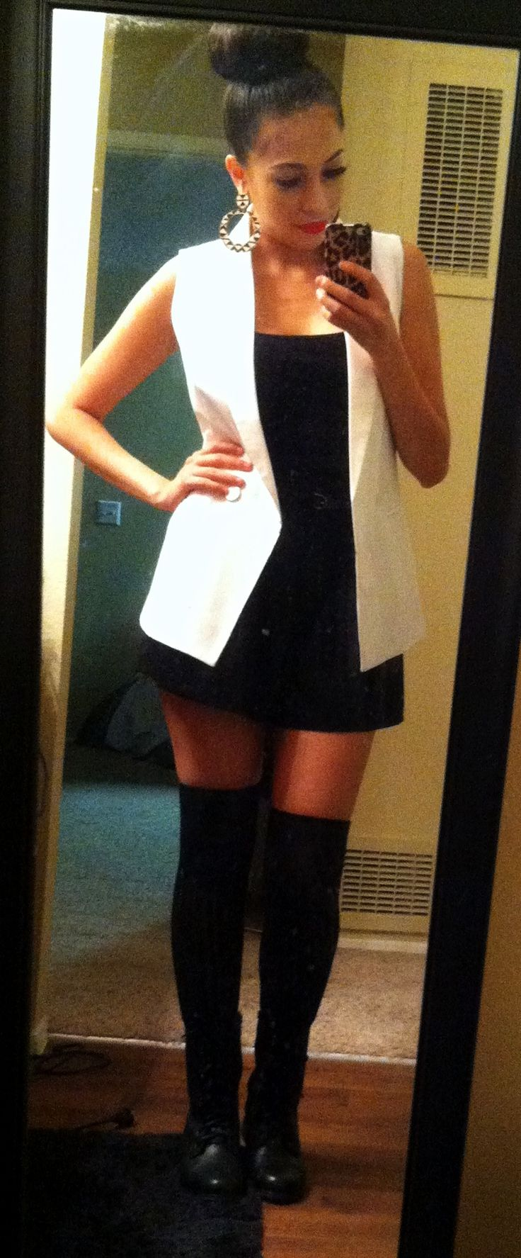 combat boots with knee high socks my style