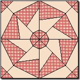 Friendship circle quilt block. this is the pattern for my barn quilt block. I chose it because of it's name, love my friends. it will be red white and blue for my husband.