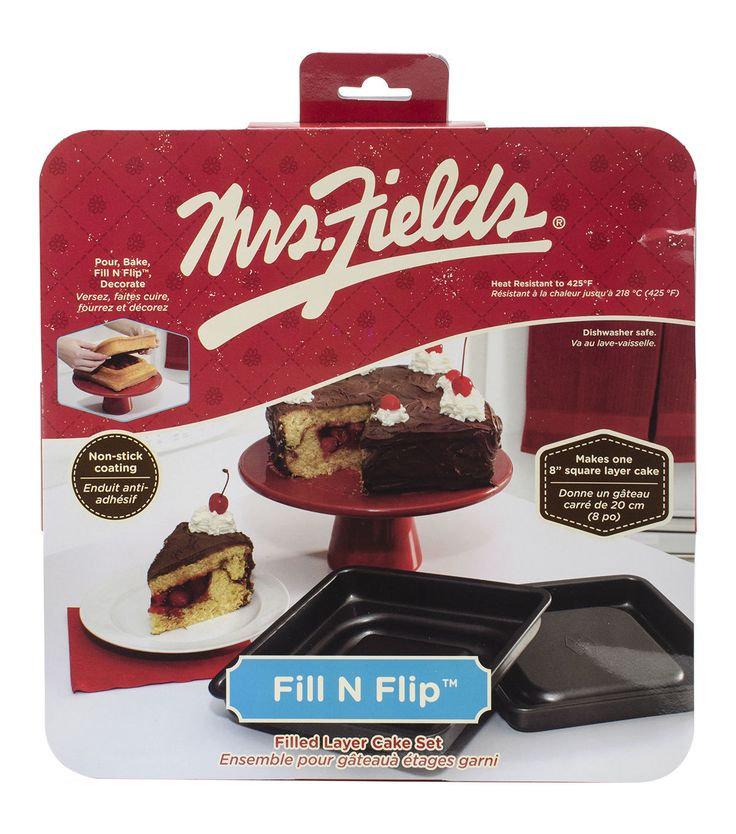 Love Cooking Company Mrs. Fields Fill N Flip Square Cake Pan Set