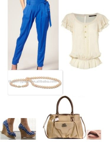 white-blue-cream set for summer
