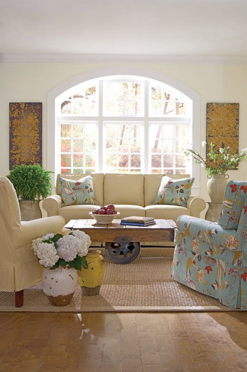 Leather Sofa Rowe Furniture Room Inspiration Skirted sofa u chair Cart coffee table