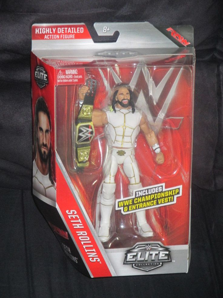 Seth Rollins WWE Series 45 White Attire Mattel Elite Collection Figure-NIB VHTF  #Mattel