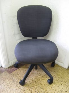 $70 Ergonomic OFFICE CHAIR Dark GREY Charcoal GAS LIFT 55x47x57cm Text 0411691171 or email info@bitspencer.com
