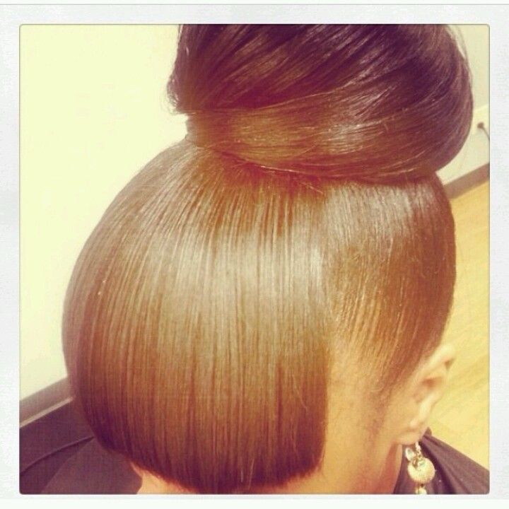 Excellent 1000 Images About Bun And Bangs On Pinterest Buns Bangs And Hairstyles For Women Draintrainus