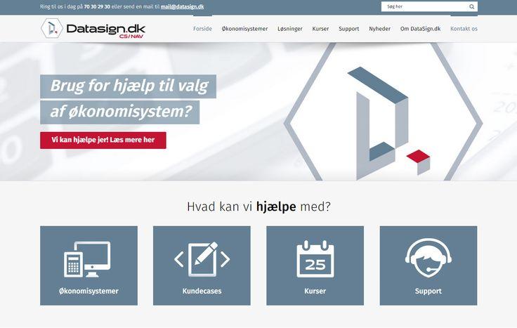 Så fik DataSign.dk ny hjemmeside!!!!! Hold op et løft det har givet ;) www.datasign.dk/forside