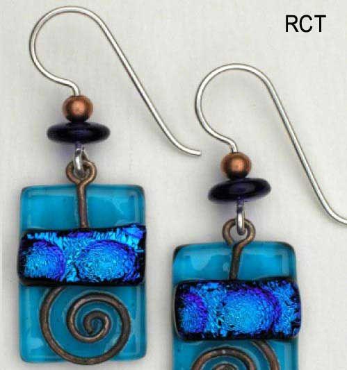 Glassalamode.com, Handmade Fused Glass Earrings $34.00