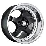 Konig Wheels 97B SSM Gloss Black with Machined Lip
