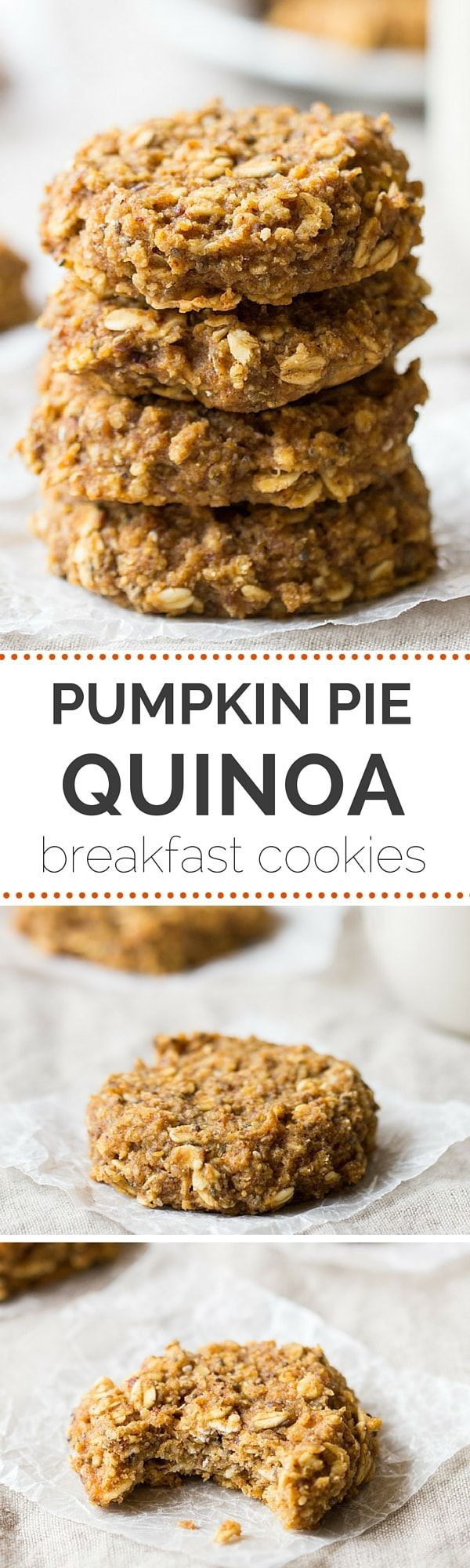 These healthy + VEGAN pumpkin pie quinoa breakfast cookies make for a simple, portable breakfast treat everyone will adore! Made Just Right. Plant Based. Earth Balance.