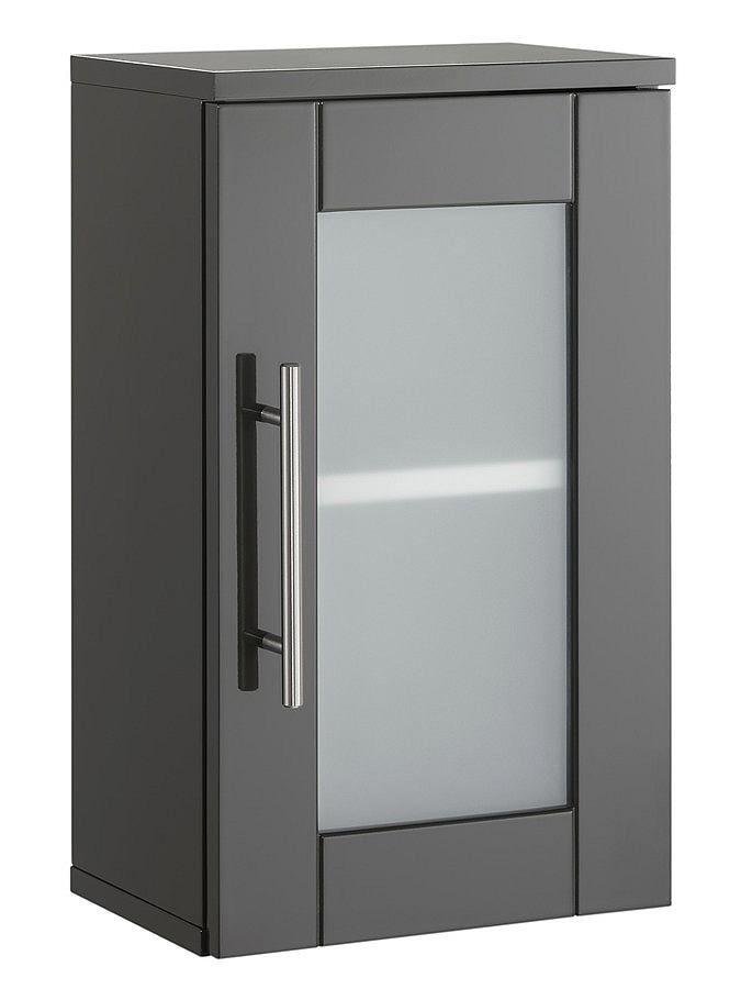 Aus hochwertiger MDF-Hartfaserplatte. Hochglanz-Front. Türe mit Glaseinsatz. Tür mit Glaseinsatz. FSC®-zertifiziert. Materialzusammensetzung: Korpus/Basismaterial: 100% MDF...