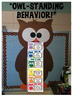 OWL-Standing Behavior Chart!- I think I'll make one like this for my front door
