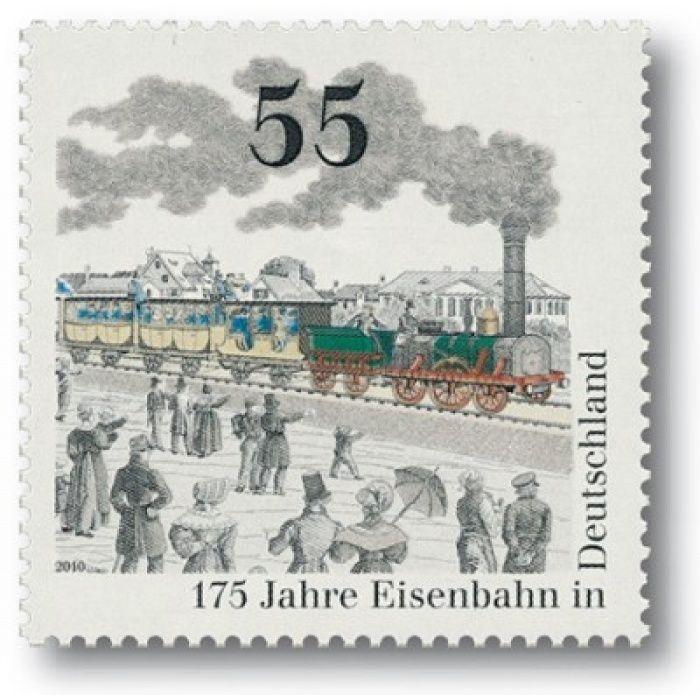 175 Jahre Eisenbahn - Briefmarke postfrisch, Katalog-Nr. 3040, Österreich