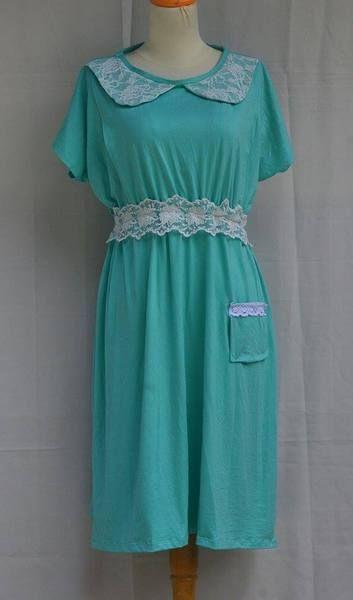 baju dress menyusui Vania saku