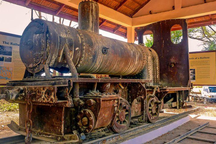 Don Det in Laos: Ausflug zur alten Bahnstrecke und Dampflok Eloïse