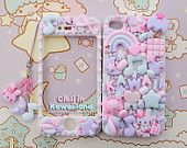 Sugar Fairy World case - Super cute kawaii front back case for Iphone 4 4s 5 5S galaxy s2 s3 s5 with lovely matching phonestrap