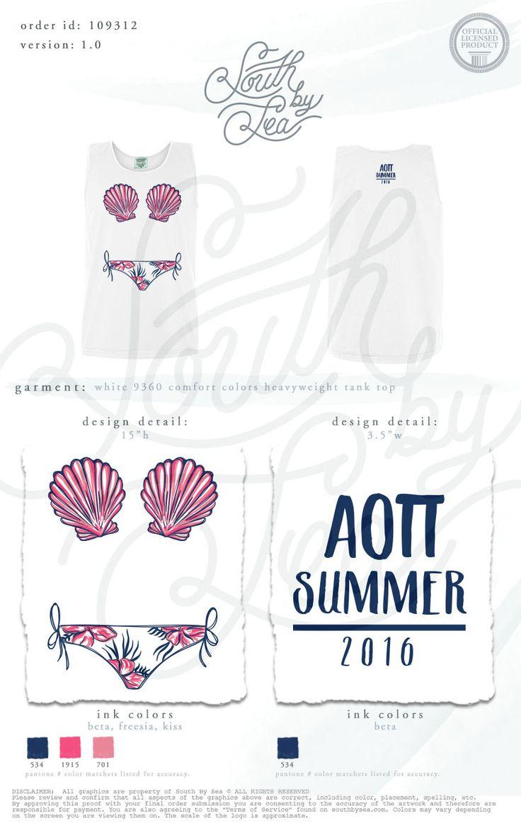 Alpha Omicron Pi | AOII | Beach Theme | AOII Summer | Summer Theme T-Shirts | South by Sea | Greek Tee Shirts | Greek Tank Tops | Custom Apparel Design | Custom Greek Apparel | Sorority Tee Shirts | Sorority Tanks | Sorority Shirt Designs