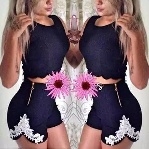 conjunto cropped e short