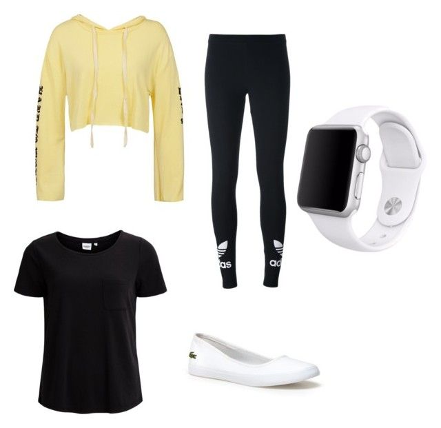 """Chill Day"" by peach-1tea ❤ liked on Polyvore featuring Sans Souci, Object Collectors Item, adidas Originals, Lacoste and Apple"