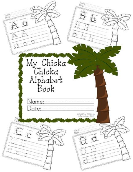A Turn to Learn: Chicka Chicka Boom Boom Handwriting Book!