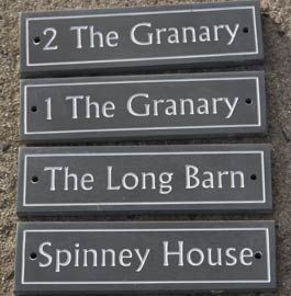 Slate House Name Plate