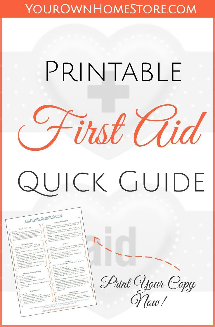 This is a picture of Bright Free Printable First Aid Guide