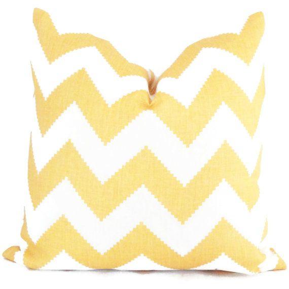 Jonathan Adler Yellow Chevron Pillow Cover 18x18, 20x20, 22x22 or lumbar - Accent Pillow - Throw Pillow on Etsy, $40.00