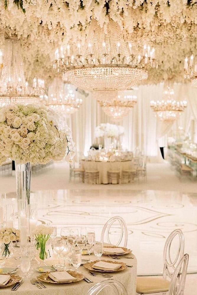36 White Wedding Decoration Ideas White Wedding Decorations Dream Wedding Reception White Weddings Reception