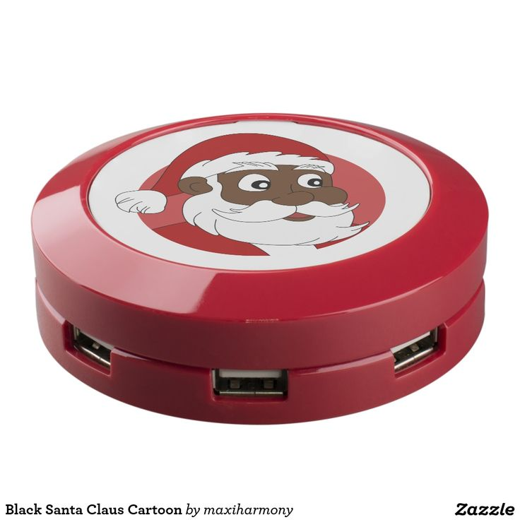 Black Santa Claus Cartoon USB Charging Station