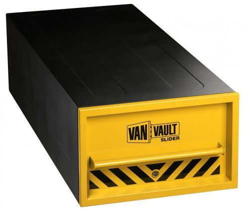 http://www.twwholesale.co.uk/product.php/section/6504/sn/Van-Vault-Slider-S10325  Van Vault Slider is a secure power tool security box that features a low visibility body that is strong enough to hold a pallet on top of it.