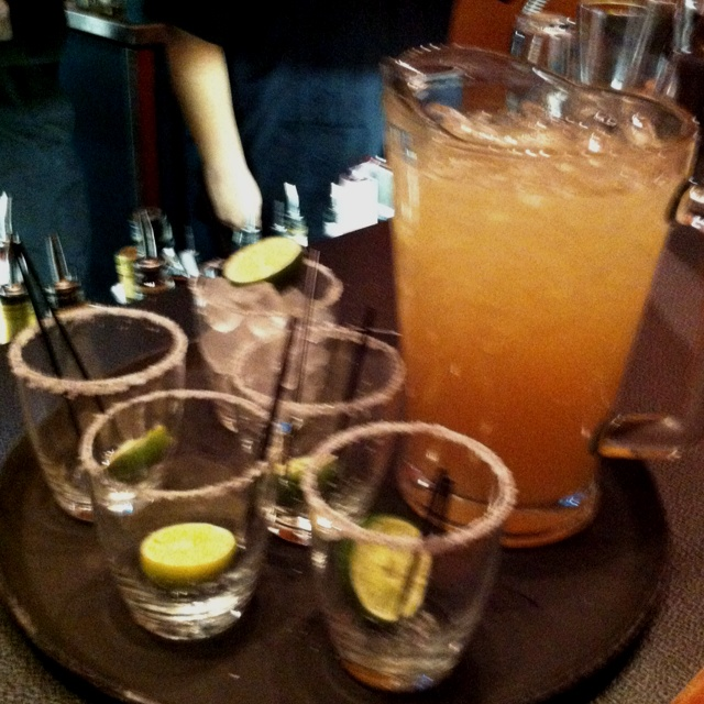 Pitcher of Margarita. Freshly made with Patron Platinum tequila and ...