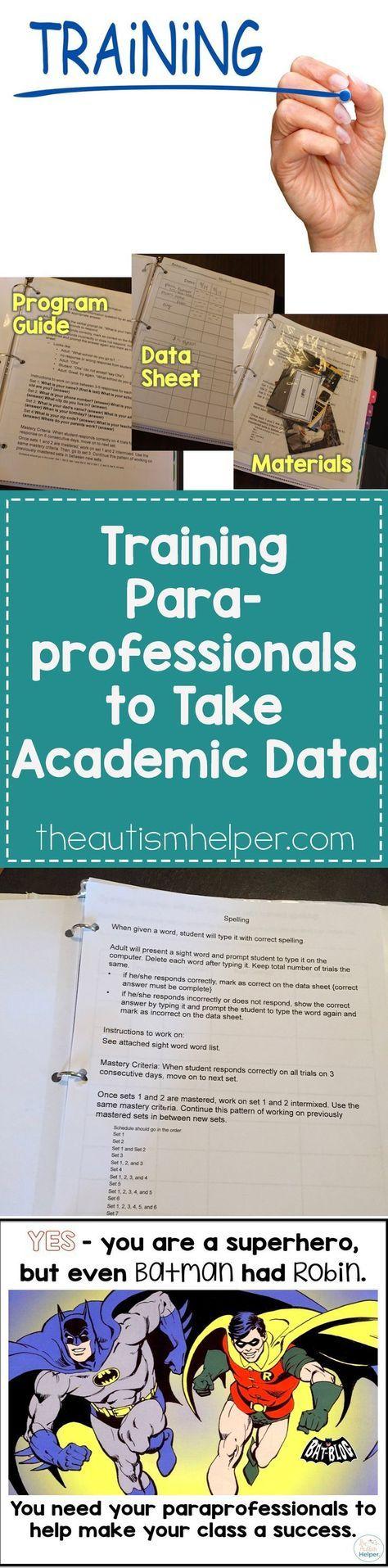 Training Paraprofessionals to Take Academic Data 87