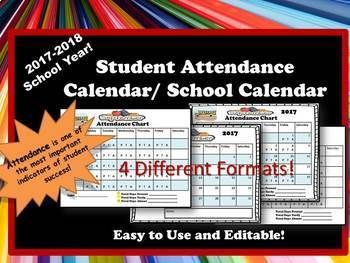 Attendance and Academic Calendars for the 2017-2018 school year!