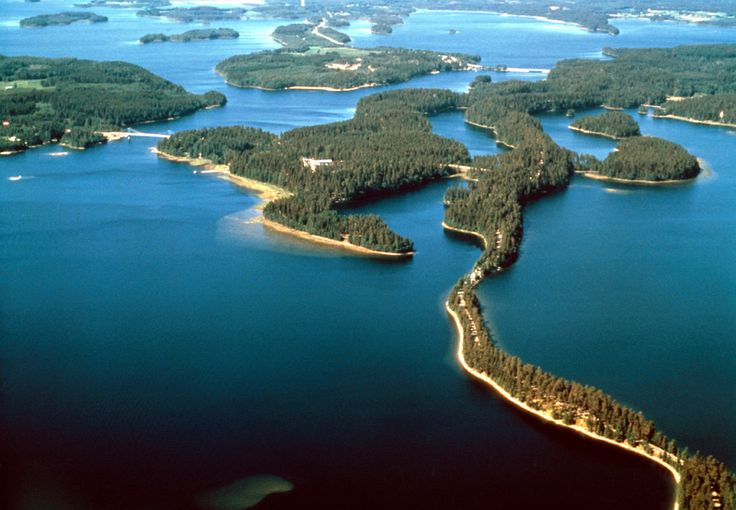 Areas for walking tourism among the Finland nature