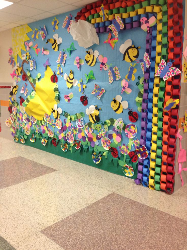 Our Wall For Several Spring Units To Create A Spring Wall Display Murals For Kids Spring