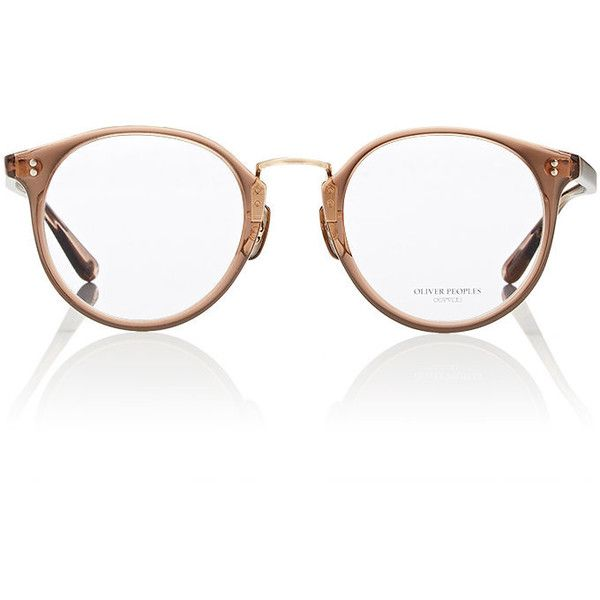 Oliver Peoples The Row Women's Maidstone Eyeglasses ($450) ❤ liked on Polyvore featuring accessories, eyewear, eyeglasses, no color, clear glasses, transparent glasses, oliver peoples, lens glasses and oliver peoples eyeglasses
