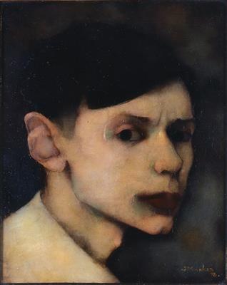 Jan Mankes (1889-1920) zelfportret 1912 34,5 x 27 cm schilderij olieverf op doek