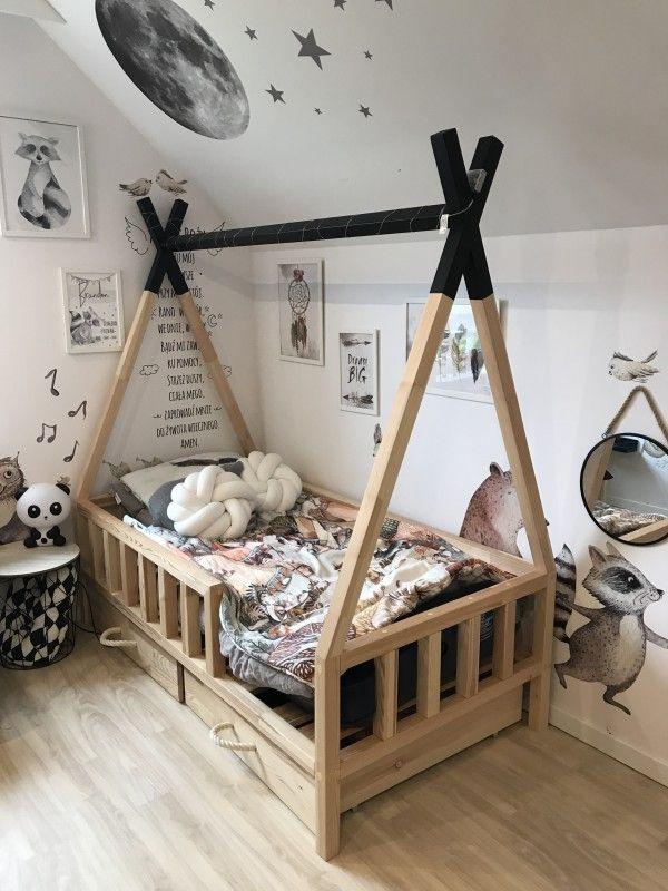 ŁÓŻKO TIPI BED Scandi Room Diy toddler bed, Toddler