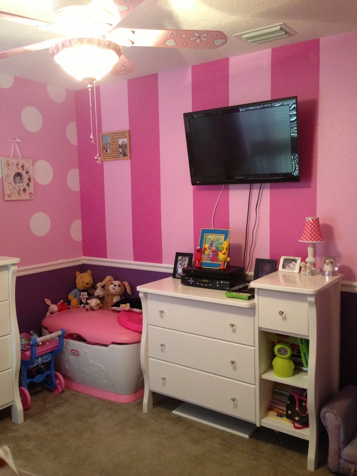 Other Striped Wall In Minnie Room Child 39 S Room Ideas