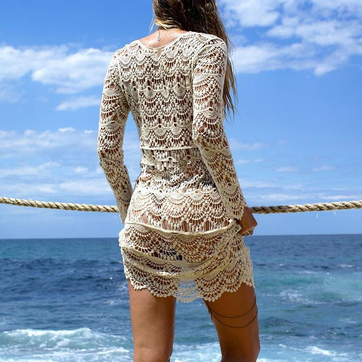 2017 Sexy Beach Cover up Crochet White Swimwear Dress Ladies Bathing Suit Cover ups Beach Tunic Saida de Praia //Price: $23.66 & FREE Shipping //     #women #fashion #babies #love #shopping #follow #instashop #onlineshopping #instashopping #shoppingday #shoppingtime #instagood #photooftheday #happy #cute #followme #tagsforlikes #instagram #bestoftheday